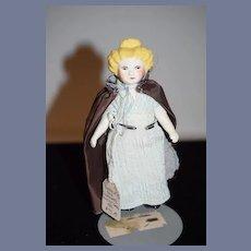Artist Doll Signed China Head Miniature Dollhouse Fancy