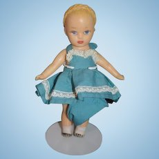 Sweet Vinyl Rubber Doll With Braids In sweet Dress