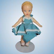 Sweet Vinyl Rubber Doll With Braids In sweet Dress