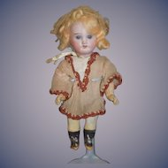 Antique Doll Miniature Bisque Dollhouse Jointed Factory Clothing DEP Dolly Face RA Recknagel