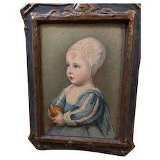 Old Wood & Gesso Baby Stuart Van Dyck Picture Wonderful W/ Regal Art Co. Mark