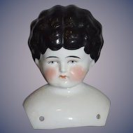Antique Doll China Head Shoulder Head