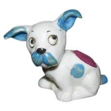 Old Miniature Dog Porcelain Pincushion Pin Cushion Dollhouse Sewing