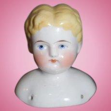 Antique Doll China Head Boy Shoulder Plate