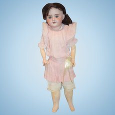 Antique Doll SFBJ  60 French Doll Sweet Face Clothes and Wig