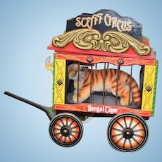 Steiff Circus Bengal Tiger with Wagon