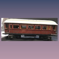 Circa 1915 Marklin Maerklin I Guage Teak Mitropa Schlafwagon Speiswagon Train Dining Car Pre-War