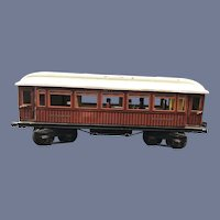 Circa 1915 Marklin Maerklin I Guage Teak Mitropa Schlafwagon Speiswagon Train Dining Car Pre-War