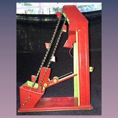 Excellent Condition Hand Crank Tin Litho Sand Toy Beach Coal Mine Elevator