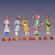 Set of 5 Chalk Figurines