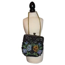 French Fasion Doll Beaded Flower Purse
