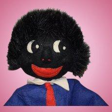 OLD Black Cloth Doll Rag Unusual Golliwog Golly-Wog