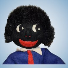 OLD Black Cloth Doll Rag Unusual Golliwog Golly-Wog