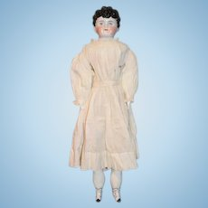 Antique Doll China Head Fancy Hair Style Sweet Face! ABG Alt Beck & Gottschalk