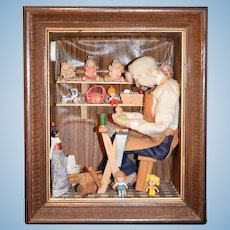 Wonderful Artist Diorama Shadowbox By Claywood Studio Diane & Arto ARTINYAN Miniatures The Doll Maker