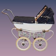 Wonderful French Doll Pram Buggy Carriage RED Doucet Charming Wonderful Condition
