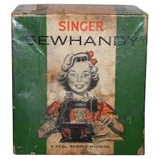 Old Doll Child's Working Singer SEWHANDY Real Machine Miniature No. 20 In Original Box