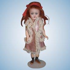 Antique Doll Cabinet Size Simon & Halbig 1079 Brevete Walker Body Works! French Market