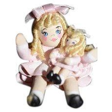 Wonderful Doll Miniature Doll Holding Doll Dollhouse Artist Doll Signed