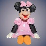 Artist Doll Minnie Mouse Miniature Dollhouse TINY