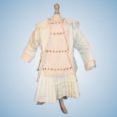 Wonderful Vintage Two Piece Dress Jacket For French Doll