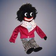 Vintage Doll Black Golliwog Cloth Doll Adorable