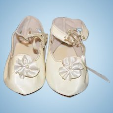 Sweet Leather Artist Doll Shoes for Larger Doll W/ Bows !