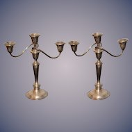 Wonderful Vintage Gorham Sterling Silver Candelabra Set Candle Sticks Pair