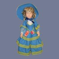 """Large Vintage Lenci Cloth Doll Wonderful W/ String Tag 26"""" Tall"""