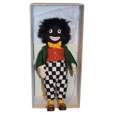 Vintage Artist Doll R. John Wright The Golliwog in Box with COA Black Cloth Doll Wonderful