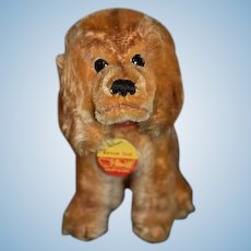 Vintage Steiff Dog Revue Susi Jointed Head Collar Tag Doll Toy: