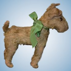 Old Doll Toy Dog Mohair Jointed Head Sweet Adorable Terrier