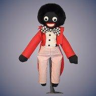 Old Doll Black Cloth Golliwog From Hamley's Toy Shop Googly Eyes