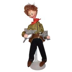Roldan Klumpe Cowboy Shooter Doll