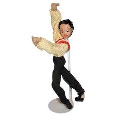 Posable Roldan Klumpe Cloth Salsa Dancer Doll