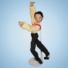 Posable Roldan Klumpe Cloth Salsa Dancer Doll