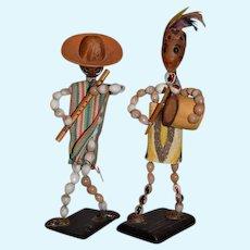 Tribal Musician Seed Dolls Vintage