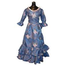 Wonderful Old Dress For Fashion Doll China Head Gorgeous