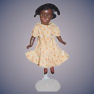 Antique Doll Cabinet Size Black Doll Bisque Head Doll Sweet