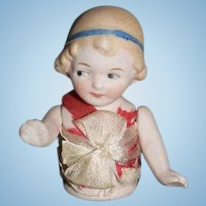 Old Doll Half Doll Jointed Arms Bisque Sweet Girl