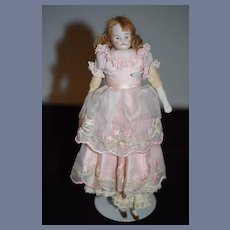 Old Doll Bisque Head FAB Clothes miniature Dollhouse