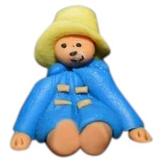 Artist Made Miniature Paddington Bear Dollhouse Teddy Bear Doll