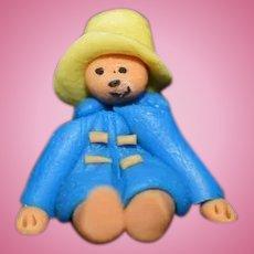 Artist Made Miniature Paddington Bear Dollhouse Teddy Bear Doll