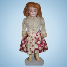 Antique Doll Bisque Head Glass Eyes Sweet Dollhouse