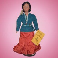 Vintage Doll Indian Southwest Heritage 1987 Region Conference Doll W/ Tag NIZHONI Signed