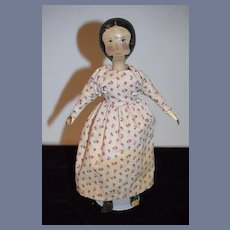 Vintage Artist Wood Doll Edna Oar Young Dressed Carved and Painted