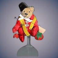 Artist Miniature Teddy Bear Connie Tognoli Jointed Dollhouse Sewing Bear W/ Tag WONDERFUL Doll Friend