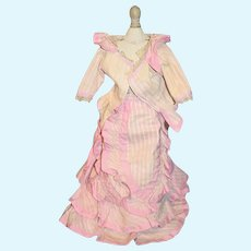 Old Doll Dress Jacket Top Skirt Fashion Doll Fancy