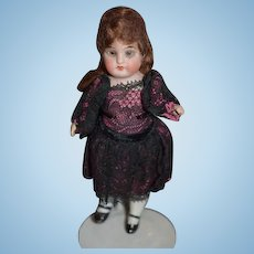 Antique Doll Miniature Dollhouse Bisque Glass Eyes All Bisque