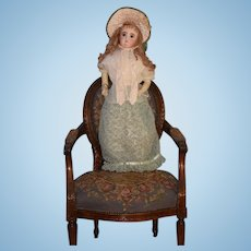 "Antique Doll Huge French Bisque Poupee Gorgeous 32"" Tall Dress W/ Fancy Clothes & Bonnet BEAUTIFUL Closed Mouth"